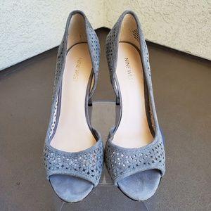 Gray Nine West Heels